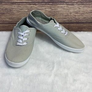 Ladies George casual lace up flat grey shoes